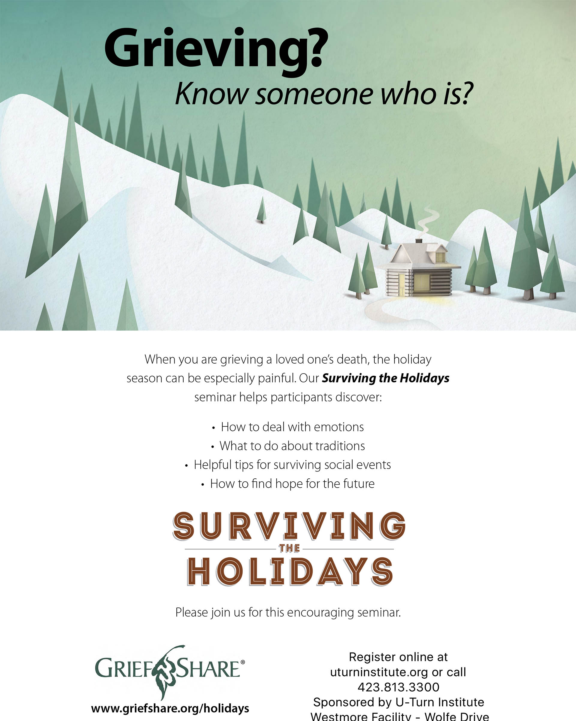 Surviving the Holidays – Flyer